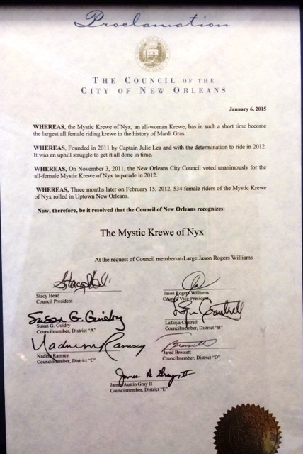 Krewe of Nyx Proclamation